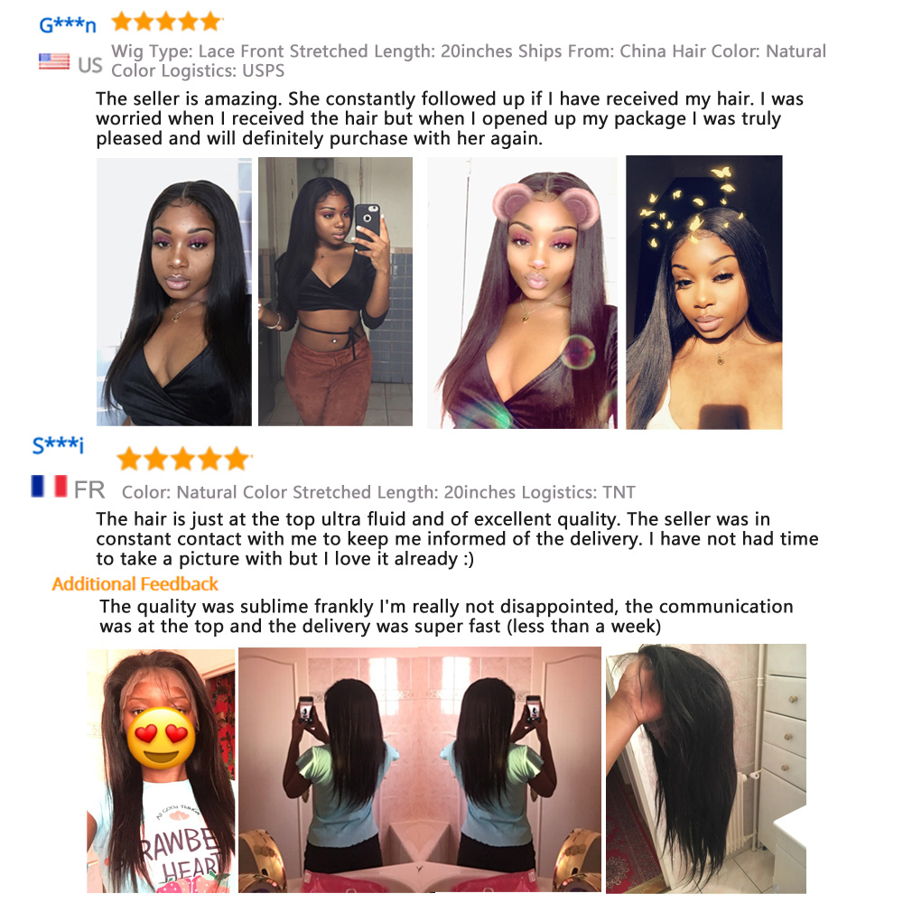 Straight Lace Front Wig Bob Wig Lace Front  Wigs  30 Inch Virgin Hair Wigs Bone Straight  Wig 5
