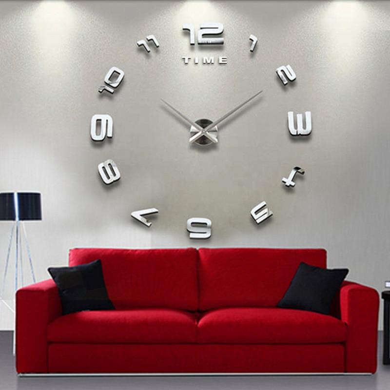 DIY 3D Roman Numbers Watch Wall Clock Home Decor Mirror Wall Sticker Supply Sale