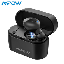 Mpow EM14 Bluetooth 5.0 Earbud Mini Wireless In-Ear Earbud Single Earphone with 400mAh Charging Case and Mic For iPhone XS/X/8/7 цены