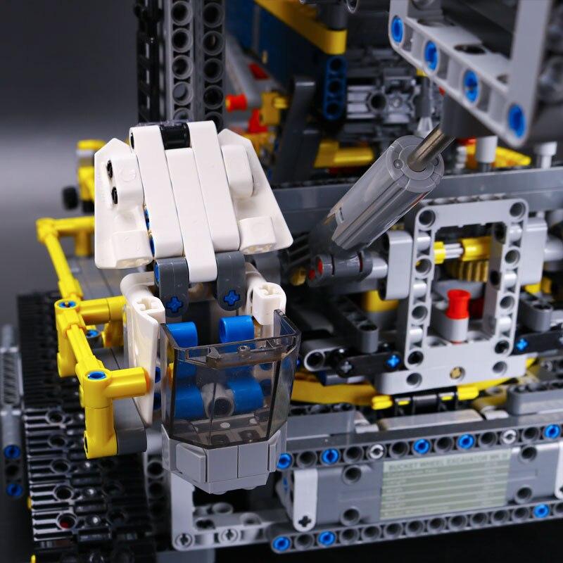 20015 3929 قطعة تكنيك سلسلة دلو حفارة بعجلات سيارة كهربائية نموذج مدينة اللبنات متوافق 42055 الطوب اللعب هدية-في حواجز من الألعاب والهوايات على  مجموعة 3