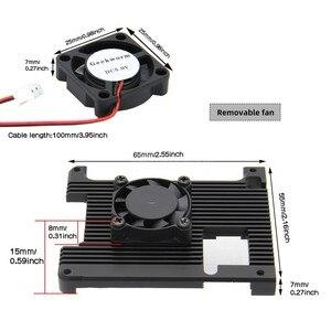 Image 3 - Raspberry Pi 4 Model B Embedded Armor Aluminum Alloy Heatsink with 5V Cooling Fan for Raspberry Pi 4 Model B Computer Only