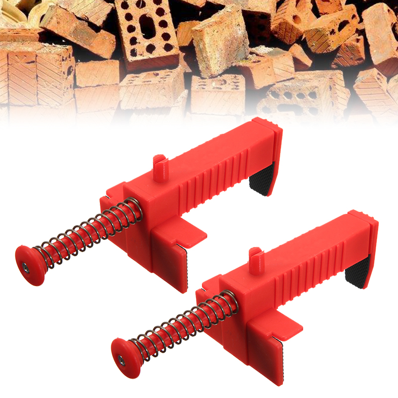 2pcs  Wire Drawer Bricklaying Tool Builder Brick Wall Liner Runner Fixer For Building Construction Line Frame