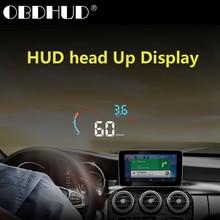 Wiiyii d2000 carro hud head up display obd2 excesso de velocidade sistema de aviso do projetor pára brisa auto eletrônico tensão alarme aviso