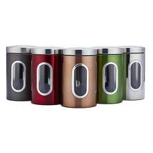 Кухонные канистры из нержавеющей стали для сахара еды чая кофе