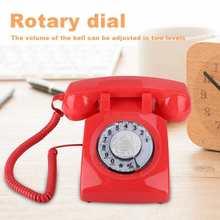 Retro Dial Telephone Vintage Landline Antique Telephone Desk Phone rotary dial telephone for Home Office Fixed line Telephone