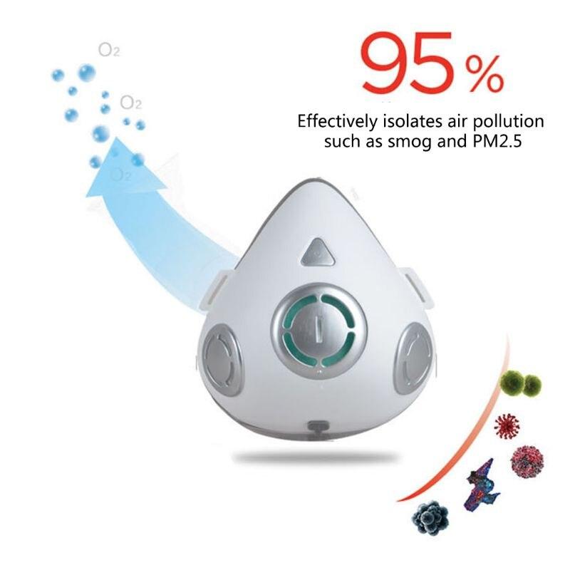 Masque intelligent électrique unisexe pour conduite en plein Air | Masque facial intelligent, masque anti-poussière, masque de purification de l'air, respirateur, masque de cyclisme réutilisable - 3