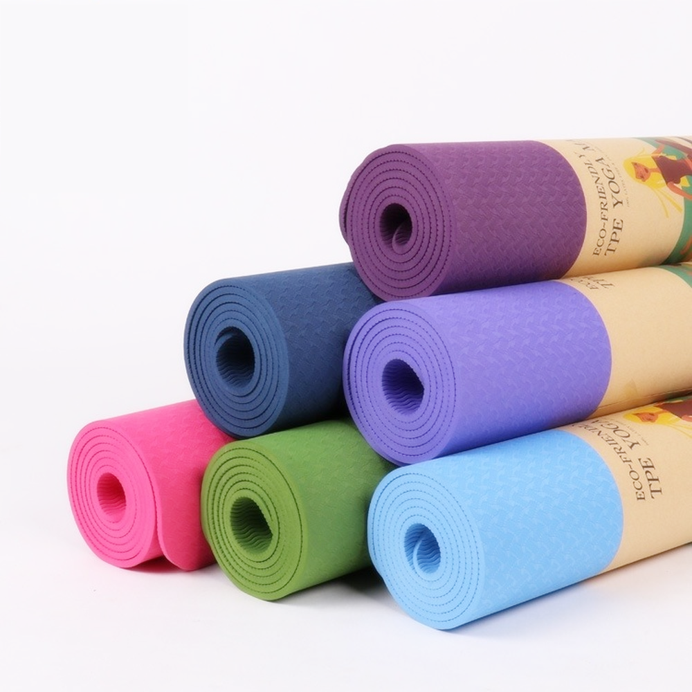 6mm Yoga Mat TPE Non Slip women fitness mat Gym exercise equipments beginner sport carpet pads for yoga popular Pilates mats