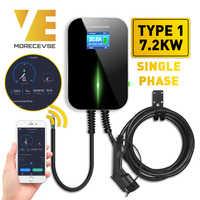 32A 1 фаза версия приложения настенное крепление EV зарядное устройство электромобиль зарядная станция с кабелем типа 1 SAE J1772