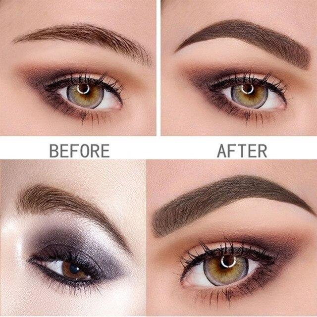 Waterproof Natural Eyebrow Pen Four-claw Eye Brow Tint Makeup three Colors Eyebrow Pencil Brown Black Grey Brush Cosmetics 5