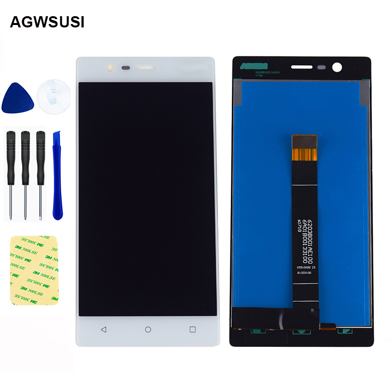 LCD For <font><b>Nokia</b></font> <font><b>3</b></font> N3 TA-1020 TA-<font><b>1028</b></font> TA-1032 TA-1038 Touch Screen Digitizer Sensor + LCD Display Panel Screen Module Assembly image