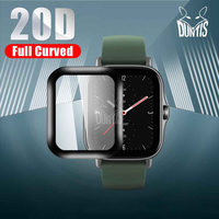 Película protectora de borde curvado 20D para Amazfit GTS 2 Mini 2e 2, protector de pantalla suave, accesorios (no cristal)