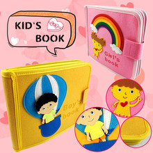 DIY Toy Book Finished Book Mom Handmade Sewing Special Birthday Gifts For Baby Story Book Felt Crafts Kits Quiet Books For Kids
