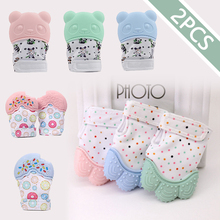 2PCS Teether Gloves Baby Toys 0 12 Months Silicone Teethers For Teeth Baby Biter Educational Toy For Infant Children Molar Glove
