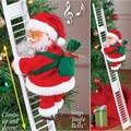 Новинка 2021, Рождественское украшение, Санта-Клаус, Электрический Подвесной Рождественский орнамент, игрушки, плюшевая тканевая кукла, игру...