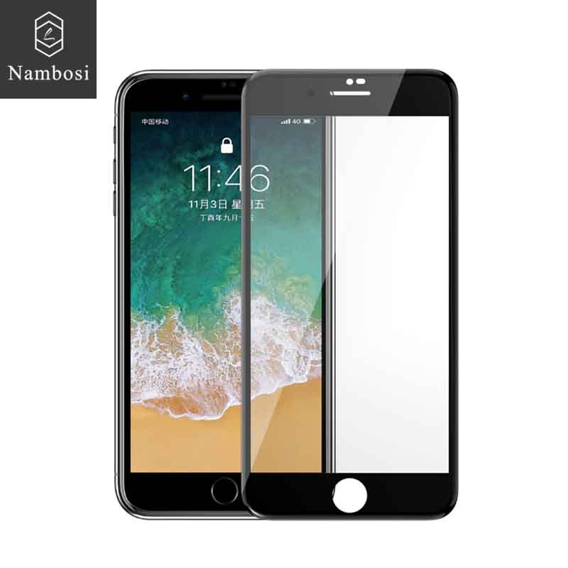 Nambosi 3D curved tempered glass screen protector for iPhone 6 6s 7 8 protective glass for iPhone 6 plus 7 8 plus full coverage