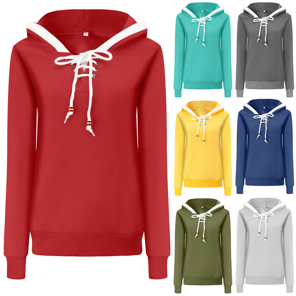 Hoodies Women Sweatshirts Fashion Womens Casual Hoodies Sweatshirt Ladies Patchwork Hooded Pullover Women Clothing Sweats Warm 8