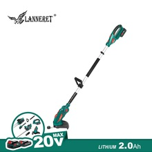 цена на 20V Cordless Grass Trimmer Grass Cutter Telescopic Handle With 2.0Ah Battery And Charger Household Grass Cutter