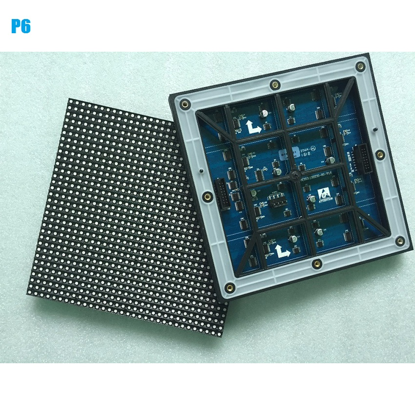 HD Outdoor P6mm 192x192mm Full Color Module  IP65 SMD3535 32x32dots Waterproof Led Video Wall Module For Rental