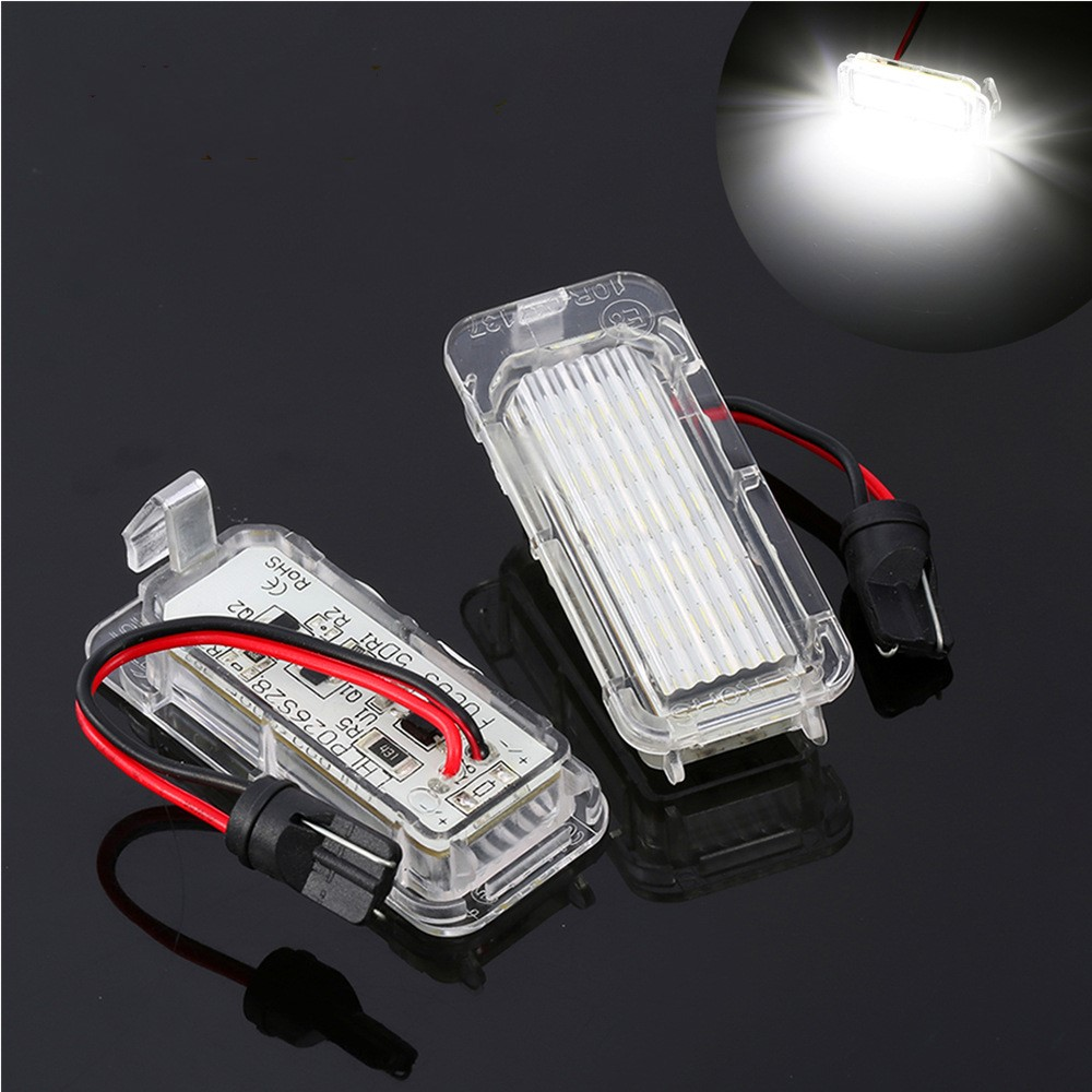 2X Car LED License Numbe Plate Light Auto frame light Truck tail light For Ford Focus 3 C MAX S MAX Mondeo 4 Galaxy KUGA 7903