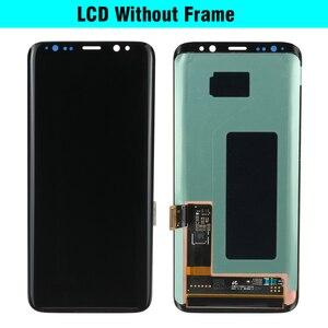 Image 2 - 100% מקורי סופר AMOLED S8 LCD עם מסגרת לסמסונג גלקסי S8 G950 G950F תצוגת S8 בתוספת G955 G955F מגע מסך Digitizer