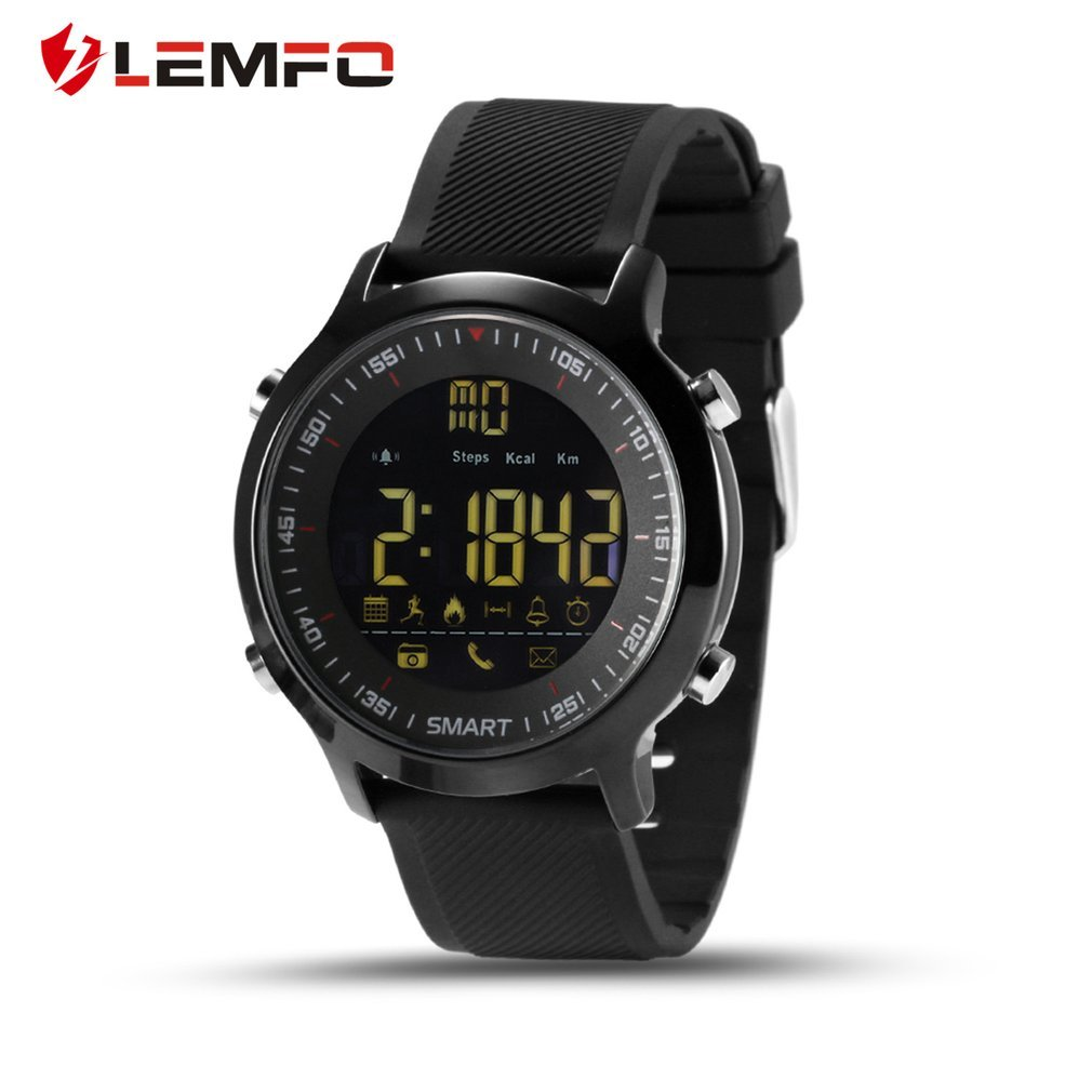 <font><b>EX18</b></font> Pedometer Waterproof <font><b>Smart</b></font> <font><b>Watch</b></font> Remote Control Camera Phone Call Message Reminder for Android for iOS Phone image