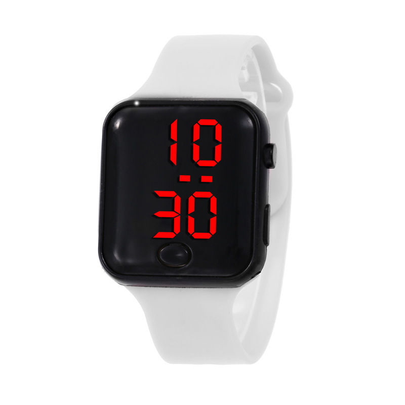 Casual LED Student Adult Couple Electronic Watch With Shell Adjustment Sport Silicone Watch Bracelet Wristwatch C030