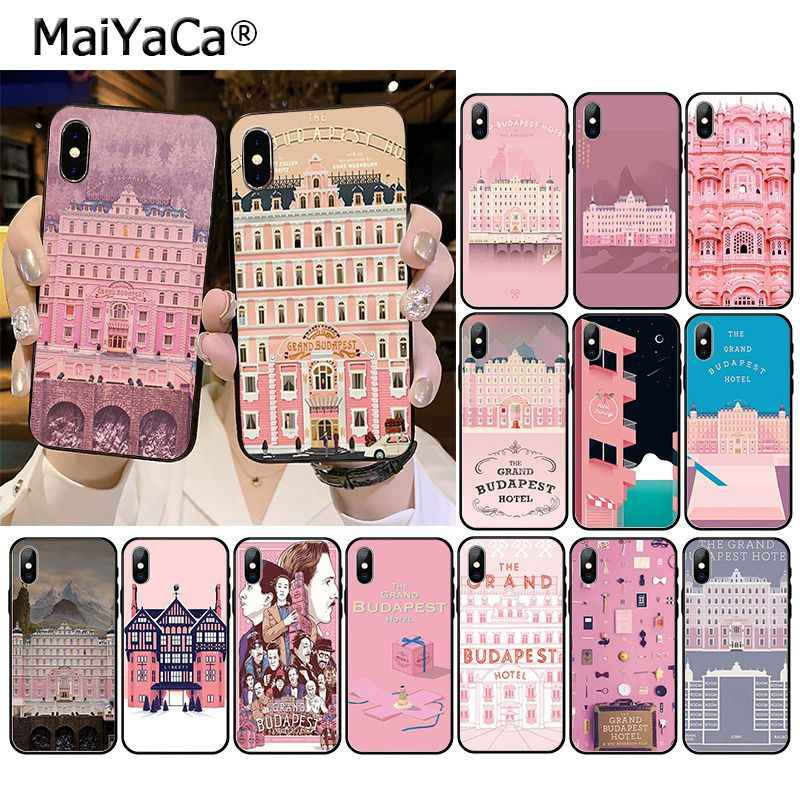 Maiyaca Wes Grand Budapest Hotel Aksesoris Case untuk iPhone 11 Pro XS Max XS XR 8 7 6 Plus 5 5S SE