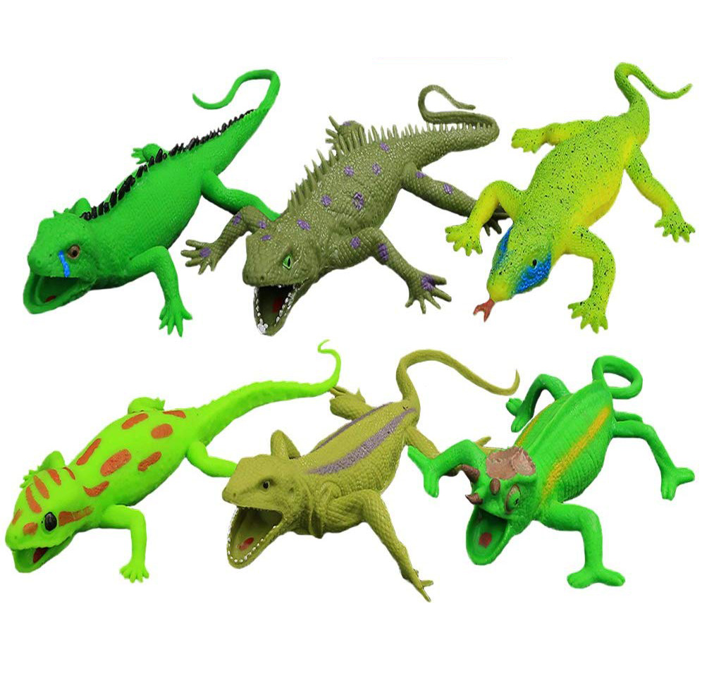 Lizards Model Toys Toy-Gecko Iguana Chameleon Komodo Dragon,9-inch Rubber Lizard Food Grade Material Super Stretchy