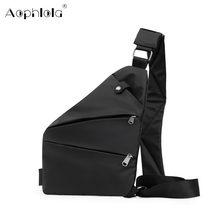 Bolsa de viagem masculina fino saco de ombro à prova de burglarproof diário carry pack coldre anti-roubo segurança cinta de armazenamento digital sacos de peito