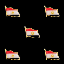 5PCS Egypt Collectible National Flag Country Zinc Alloy Lapel Safety Pins  for Men brooche Set Brooch Badge 10pcs collectible national flag slovenia country zinc alloy lapel pins set brooch badge for clothing accessories
