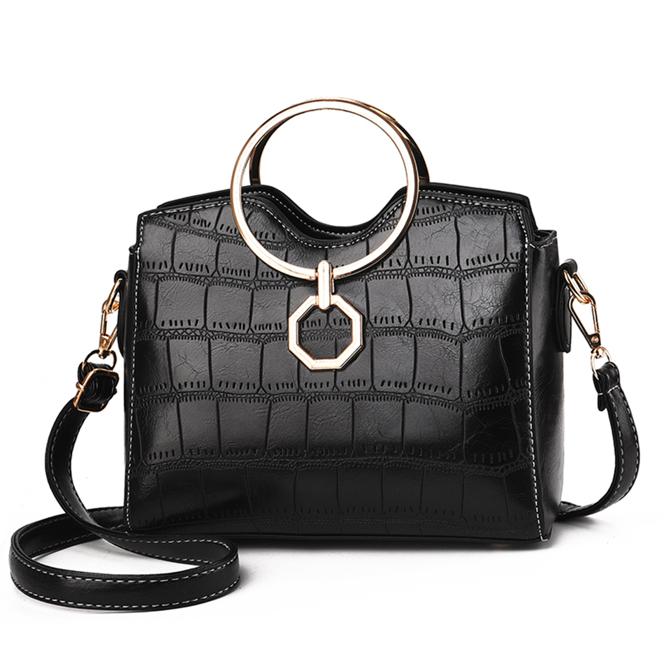 Leather Handbags Small Women Shoulder Bag High Quality Fashion Crossobody Bags For Women 2019 Flap Messenger Bags Bolsa Feminina in Shoulder Bags from Luggage Bags