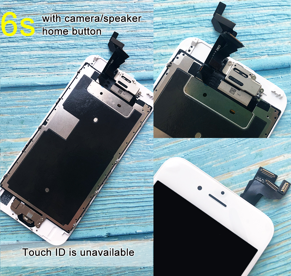 H13ec494c3dc44fc8b65d1430640a17f7c For iPhone 6 LCD Full set Assembly Complete Touch For iPhone 6S Screen Replacement Display For iphone 7 lcd camera+home button