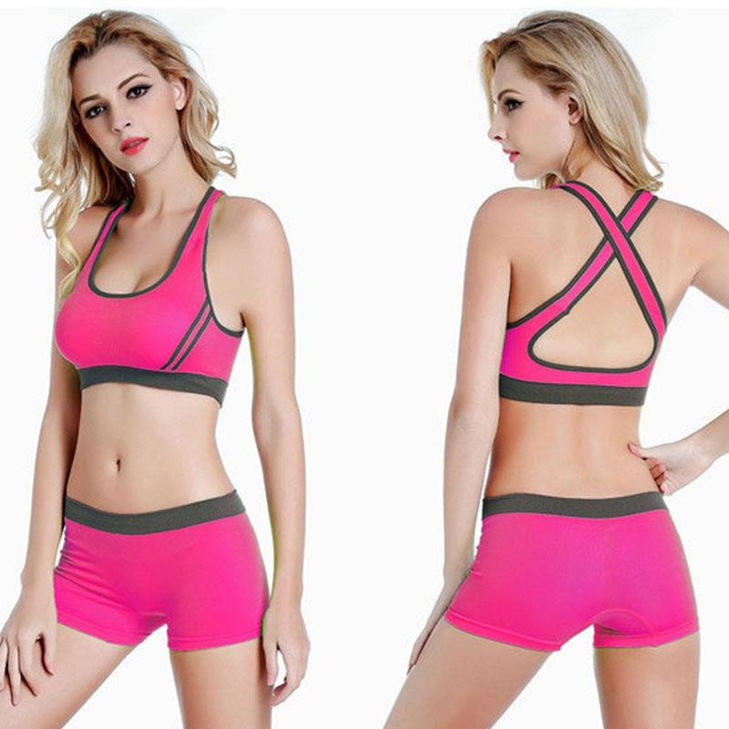 Woman Sexy Sports Fitness Underwear With Chest Pad Ladies Professional Double-layer Anti-shock Running No Trace Tennis Bra Vest
