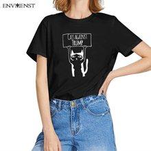 Envmenst – T-shirt à manches courtes et col rond pour femme, estival et décontracté, avec les chats contre la truite, 90 styles, 2020, XS-3XL