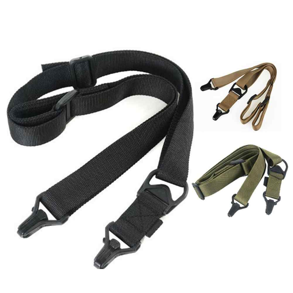 Tactical 3 Point Adjustable Bungee Rifle Sling Swivels System //KT Khaki