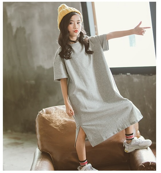 Loose Mother Daughter Matching Dresses Casual Mommy and Me Clothes Family Look Women Girls Mom Mum & Baby Dress Outfits Cotton