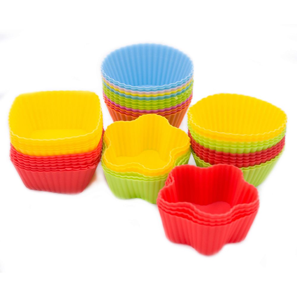 Brand New 7CM Silicone Cake Cupcake Cup Reusable Bakeware Baking Silicone Mold For DIY Pastry Muffin Cupcake