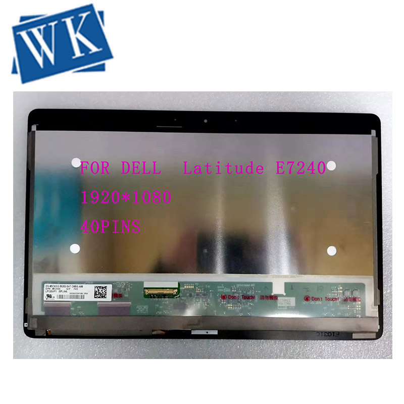 FOR DELL  Latitude E7240 LCD Screen LP125WF1 SPA4 LCD Assembly 1920*1080 TouchScreen