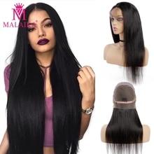 Парики из натуральных волос на шнурках, прямые волосы для волос, 12-26 дюймов, 130% малазийские человеческие волосы, парики на шнурках