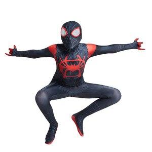 Image 5 - Crianças quentes aranha menino traje super herói lycra aranha menino cosplay traje zentai halloween traje com máscara