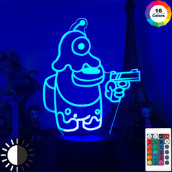 Among US 3D LED induction lamp atmosphere bedside night light for decorating children's bedroom birthday gifts
