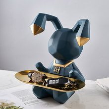 Creative Animal Storage Fruit Plate Resin Animal Model Sculpture Nordic Home Decoration Living Room Table Decor Accessories Gift