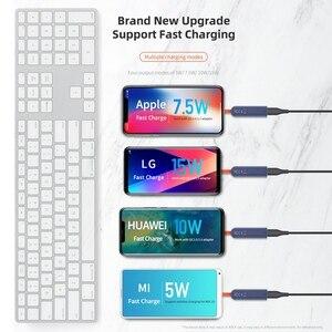 Image 5 - Kaya çift taraflı kablosuz şarj vantuz hızlı kablosuz şarj pedi gösterge ışığı 15W Qi iphone şarj cihazı XS 8 huawei