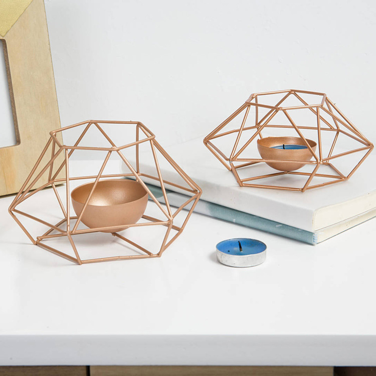 Geometric Candle Holders Free Shipping