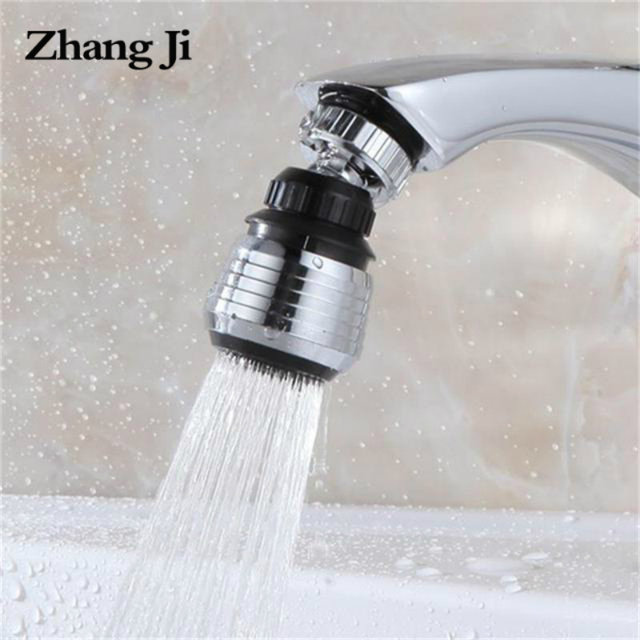 ZhangJi 360 Rotating Water Saving Tap Connector Dual Mode Kitchen Faucet Aerator Diffuser Bubbler Filter Shower Head Nozzle 3