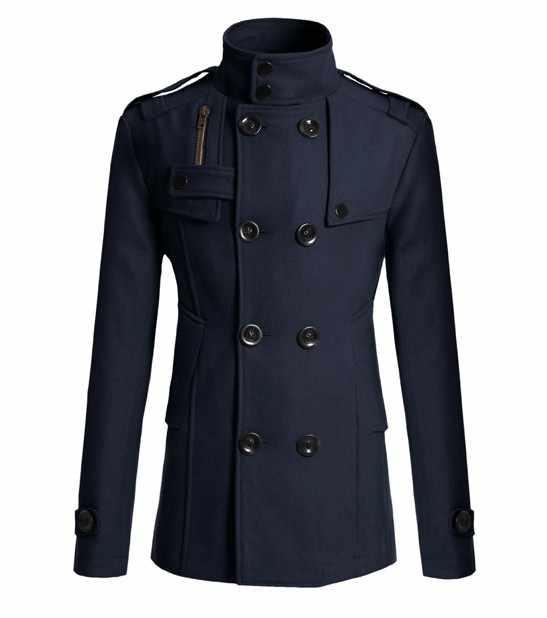 Новинка 2020, мужское шерстяное пальто Mao для мужчин, длинный костюм, шерстяная ветровка, Мужское пальто, верхняя одежда, одежда