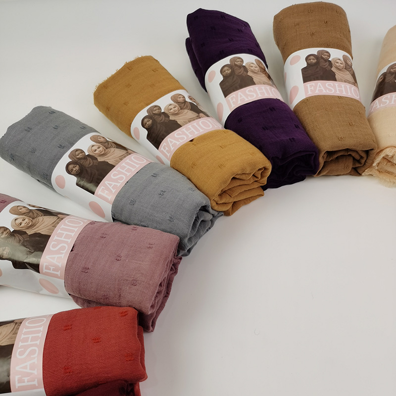 Soft Cotton Plain Head Scarf For Muslim