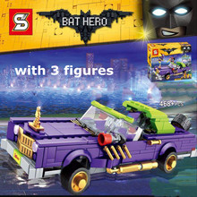 New 468pcs The Joker Notorious Lowrider Harley Quinn Building Blocks Fit 70906 Batman Bricks Educational Toys For Children Gift(China)
