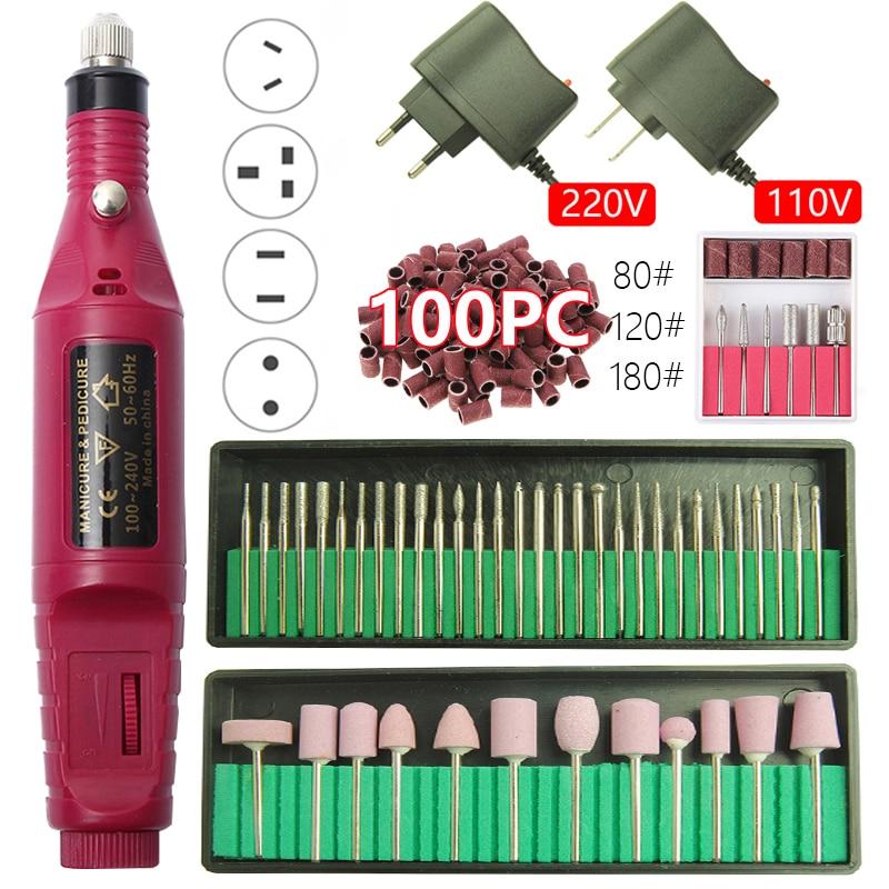 1set 20000RPM Electric Nail Drill Machine Manicure Drill Machine Pedicure Drill Professional Nail Drill Machine Salon Nail Drill