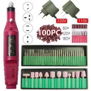 Image 1 - 1set 20000RPM Electric Nail Drill Machine Manicure Drill Machine Pedicure Drill Professional Nail Drill Machine Salon Nail Drill